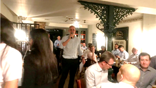 UBS London Group Tech quiz evening fundraising for SportInspired